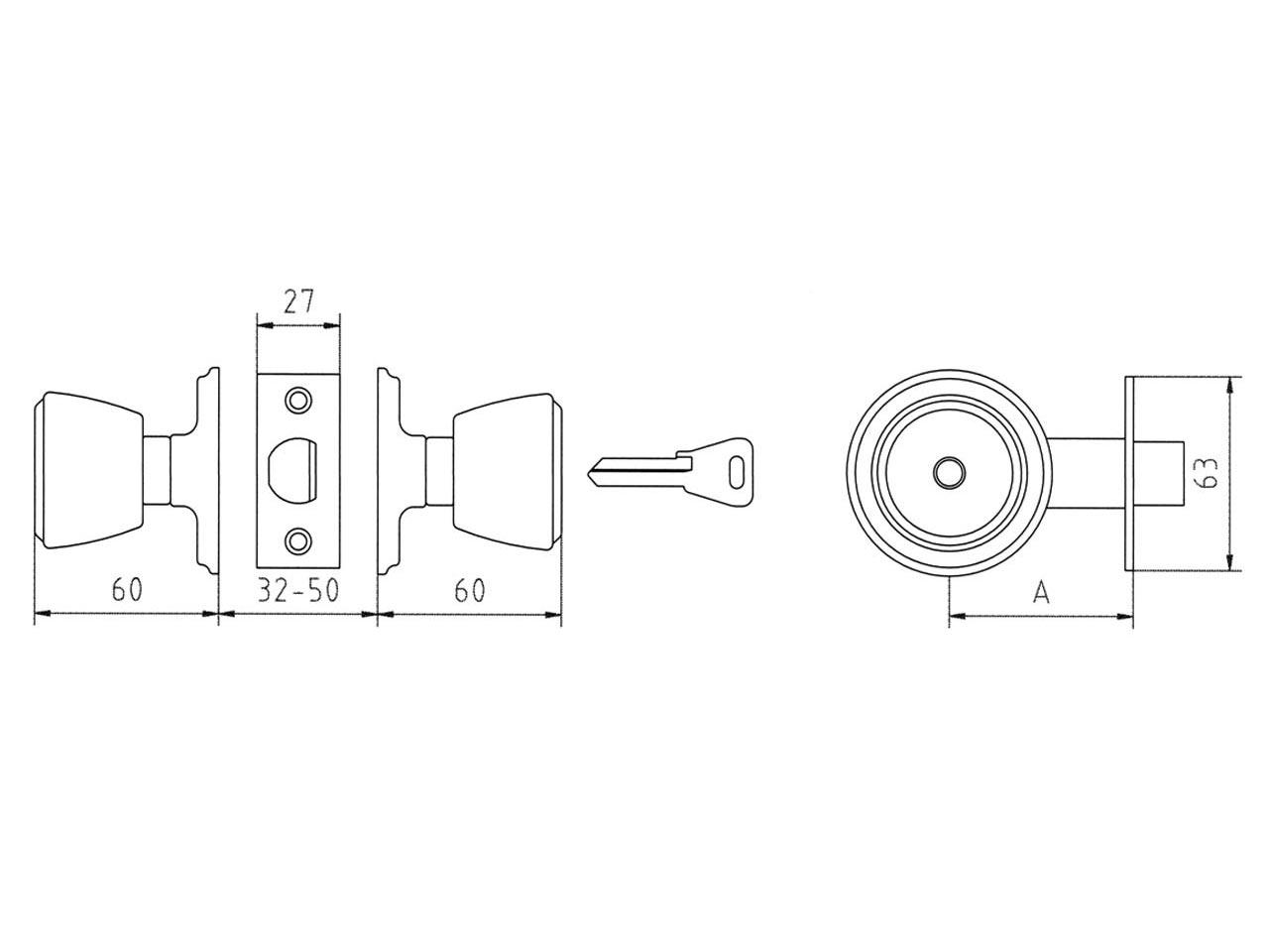 Sufersa cerradura mcm 508 pomo - Pomo con cerradura ...